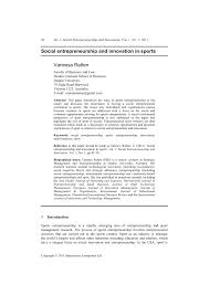 si e social entreprise social entrepreneurship and innovation in pdf available