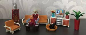 playmobil 5332 behagliches wohnzimmer kamin leuchtet ebay