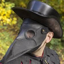 Cuero Máscara Doctor De La Plaga Negro