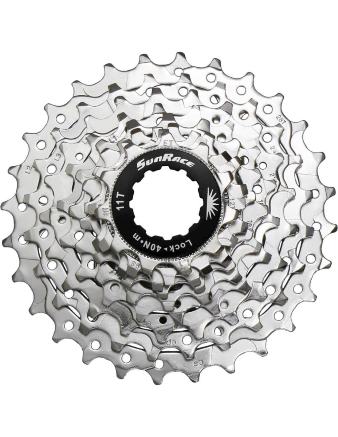 Sunrace Cassette - 9-Speed, Nickel Plated