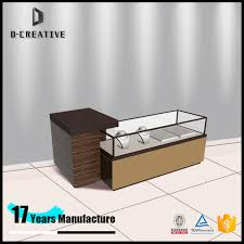 2017 New Product Necklace Ultra Clear Tempered Glass Jewelry Exhibition Display Table Counter Furniture Showcase