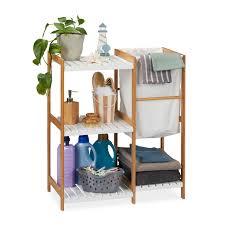 möbel wohnen badregal mit wäschekorb badezimmer regal