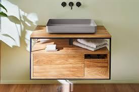 paion waschtischunterschrank aus massivholz metall lapidispa spa ambiente