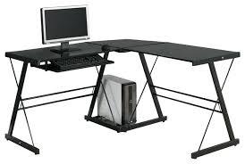 desk glass and metal corner computer desk white small metal