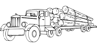 Logging Log Truck Hauling Logs Lumber
