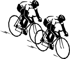 Two Bike Racers Clip Art At Clker
