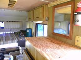 New Plywood Counter Tops And Wall Paneling Complete The Renovation Of Motorhome