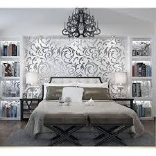 gototop 10 m rolle 3d barockstil wandtattoo wasserdicht und feuerfest für dekoration wohnzimmer schlafzimmer silber