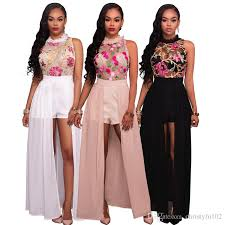 2017 Women New Fashion Club Summer Style Vestidos Dresses Ladies Sexy Bodycon Bandage Party Evening Embroidery Chiffon Elegant Long Outfits Pretty