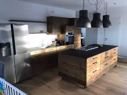 loft küche eiche geräuchert mit kücheninsel auf rollen