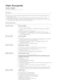 English Teacher - Resume Samples & Templates | VisualCV Teacher Resume Samples And Writing Guide 10 Examples Resumeyard Resume For Teachers With No Experience Examples Tacusotechco Art Beautiful Template For Teaching Free Objective Duynvadernl Science Velvet Jobs Uptodate Tips Sample To Inspire Help How Proofread A Paper Best Of Objectives Atclgrain Format Example School My Guitar Lovely Music Example