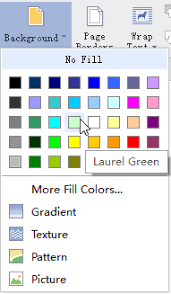 Apply Background Color To Document
