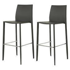 chaise simili cuir gris lot de 2 chaises de bar simili cuir gris zago absolument design