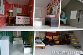 Barbie Living Room Furniture Diy by Modern Diy Dollhouse With Homemade Furniture Part 1 Of 6