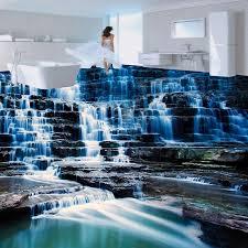 nach 3d boden tapete wandbild hd wasserfall landschaft vinyl tapete für badezimmer wohnzimmer 3d boden malerei wasserdicht