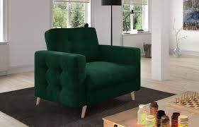 sessel polstersessel loungesessel asgard 1f wohnzimmer grün