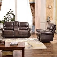 Harper Bright Designs Sectional Recliner Sofa Set Brown Chair Loveseat