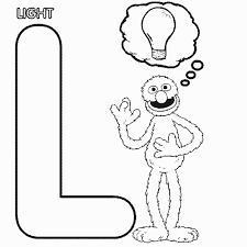 Sesame Street Coloring Pages Letters L Preschool Crafts