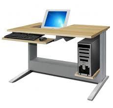 bureau informatique poste informatique semi encastré leader equipements