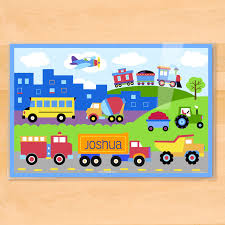 Trains, Planes & Trucks Personalized Kids Placemat - Art Appeel Trucks For Kids Water Truck Chocolate Eggs Learn Colors Bargain Pictures To Color Cars Printable 6054 Unknown 25 Sewing Patterns Kids Swoodson Says Large 24 Dump Playing Sand Loader Children Mcqueen Transportation With Spiderman Car Cartoon Big Rig Tow Teaching Learning Colours Video For Babies With Monster Garbage Truck Parking Soccer Balls Toy Trucks Childrens Institute Model Toy Simulation Eeering Vehicles Garbage Best Choice Products 2pack Assembly Takeapart Cstruction