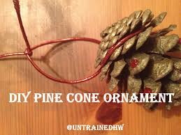Pine Cone Christmas Tree Ornaments Crafts by Diy Pine Cone Christmas Tree Decorations