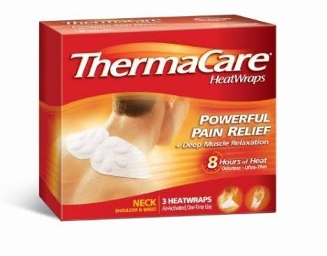 Therma Care Therapeutic Pain Relief Heat Wraps - 3pk