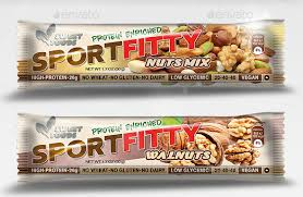 Label Design Template Candy Bar Nutrition Granola