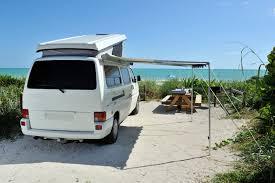 Class B Motorhome Campervan On The Beach