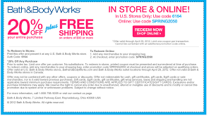 Bath And Body Works Free Shipping And f Couponbath Body Works