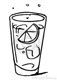 beverage clipart black and white 2