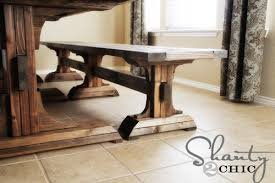 Build Your Own Farmhouse Table With Bench Free Plans From Ana White