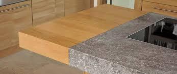 küchenarbeitsplatte aus holz naturstein im vergleich