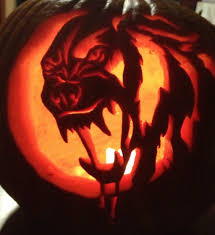 Wolf Face Pumpkin Carving Patterns by My Werewolf Pumpkin By Siosin On Deviantart