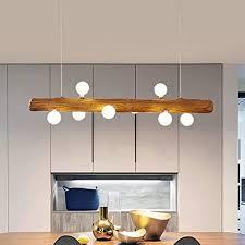 pendelle led pendelleuchte aus holz rustikal esstisch hängeleuchte moderne aus glas hängele 8 g4 lenschirm höhenverstellbar für küche