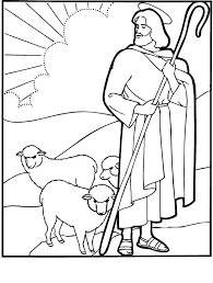 Good Shepherd Painting Or Coloring Sheet