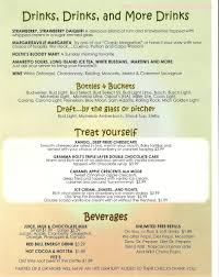 line Menu of Holties Restaurant & Pub Restaurant Barnhart