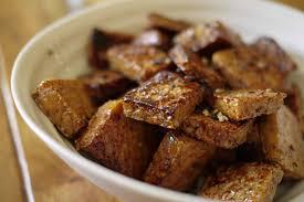 tofu caramélisé à l érable banlieusardises