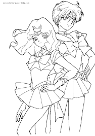 Sailor Moon Color Page Cartoon Characters Coloring Pages Plate Sheetprintable