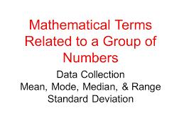 mode median and range data collection mode median range standard deviation