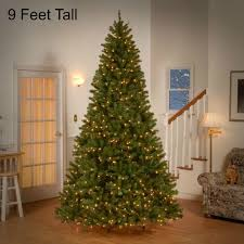 Artificial Douglas Fir Christmas Tree Unlit by 9 Ft Tall Pre Lit Christmas Tree 700 Clear Lights Holiday Decor
