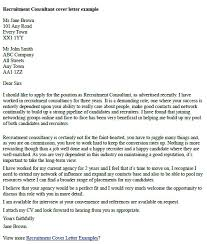 Cover Letters To Recruitment Agencies Brilliant Ideas Of Letter A Job Consultant For