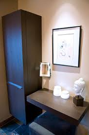 Master Bathroom Vanity With Makeup Area by Contemporary Bathrooms Designs U0026 Remodeling Htrenovations