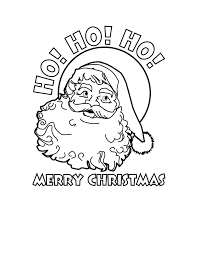 Download Coloring Pages Merry Christmas Printable Ho