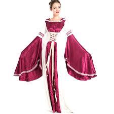 Purple Renaissance Princess Fancy Dress European Retro Medieval Fantasias Outfit Uniform Womens Halloween Themed Party Costume