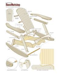 Pallet Adirondack Chair Plans by Make A Muskoka Rocking Chair From Composite Wood U2013 Canadian Home