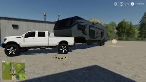 100 Grizzly Trucks Trailer Creek Toy Hauler V10 Farming Simulator 19 Mod