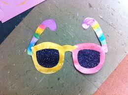 Summer Sunglasses Craft With Black Glitter Lenses For Preschoolers Inside