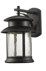 patriot lighting皰 jalissa medium black led outdoor wall light at