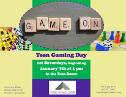 Drop By The Teen Room To Get Your Fill Of Board Games Pizza And Fun