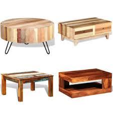 details zu couchtisch massivholz recyceltes wohnzimmertisch baumstamm holztisch tisch holz